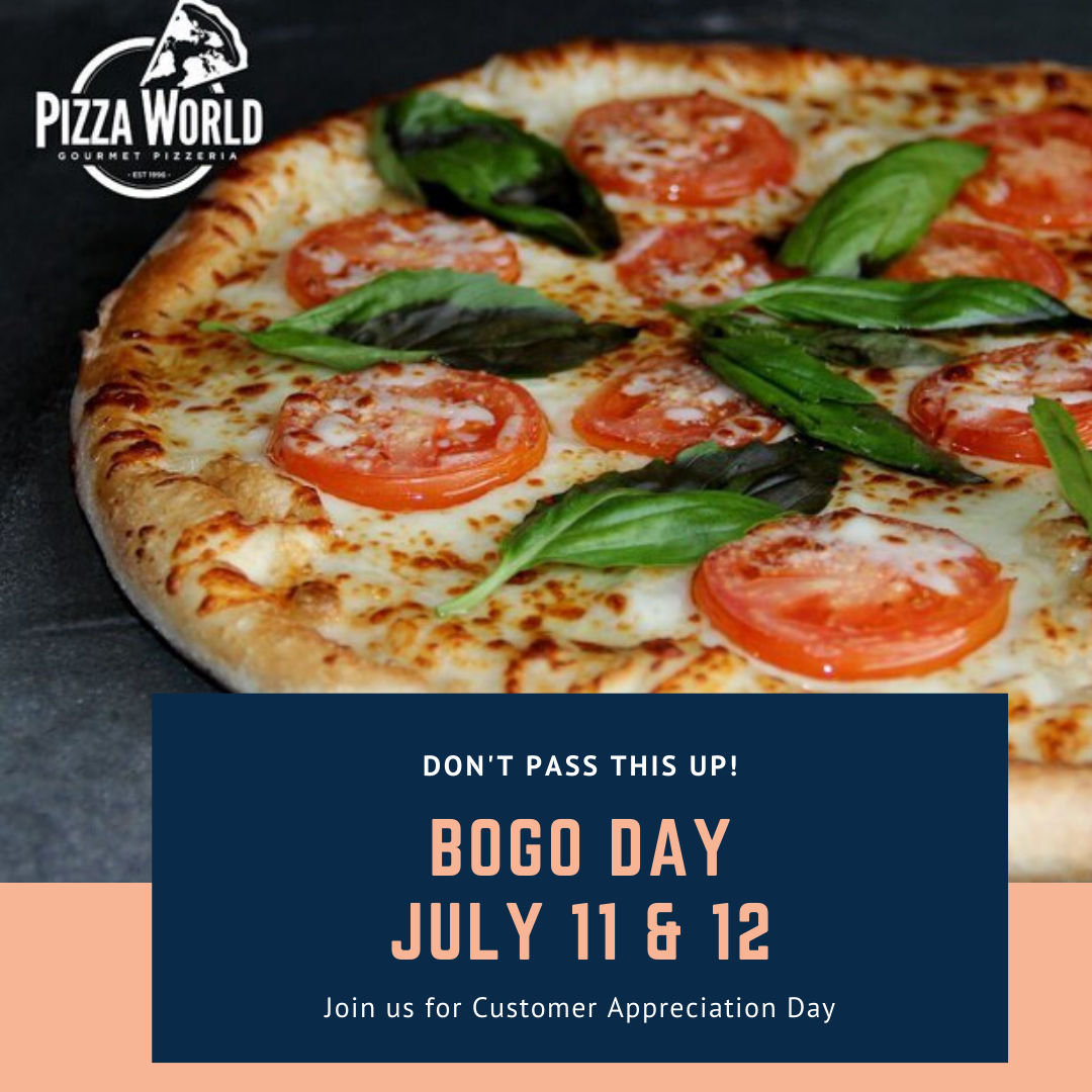 Join us today and tomorrow July 11 and 12 for BOGO DAY Enroll in our Pizza Points Rewards program to participate in BOGO Just download the APP and create your account - Retweet and share  #pizzalovers #pizzeria #stlouis #CreveCoeur #missouri #italianfood #pasta #restaurants