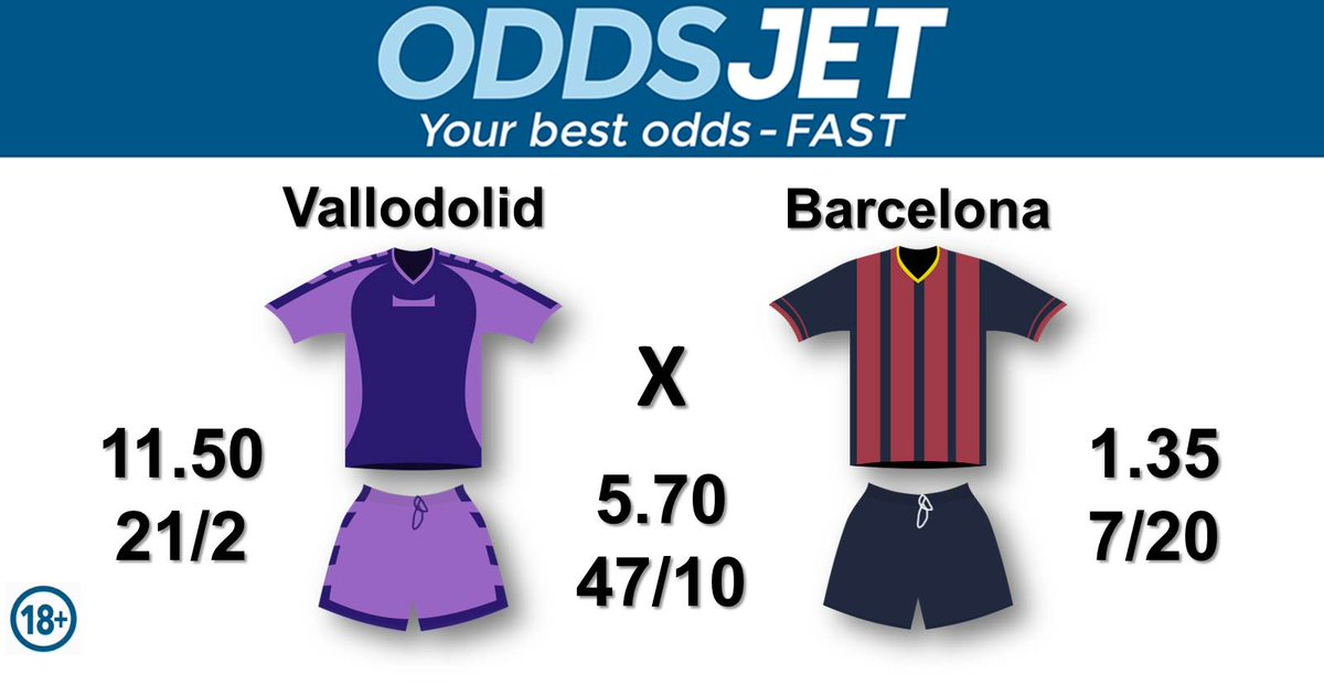 #LaLiga, #RealValladolidBarca,  #LaLigaIsBack, #TodayWePlay, #BackToWin,   #RealValladolid, #Pucela, #CanteraRV, vs. #Barca, #ForcaBarca, #FCBarcelona, #WeAreMessi, #VamosBarca, Get your best odds - fast at