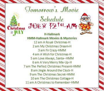 Tomorrow's #christmasinjuly movies on @hallmarkchannel and @hallmarkmovie #countdown #christmas #winter #christmascountdown #christmasspirit #christmas2020 #holidays #christmasmagic #santa #santaclaus #believe #ChristmasMovies #MovieReviews pic.twitter.com/qQIo8RXyos