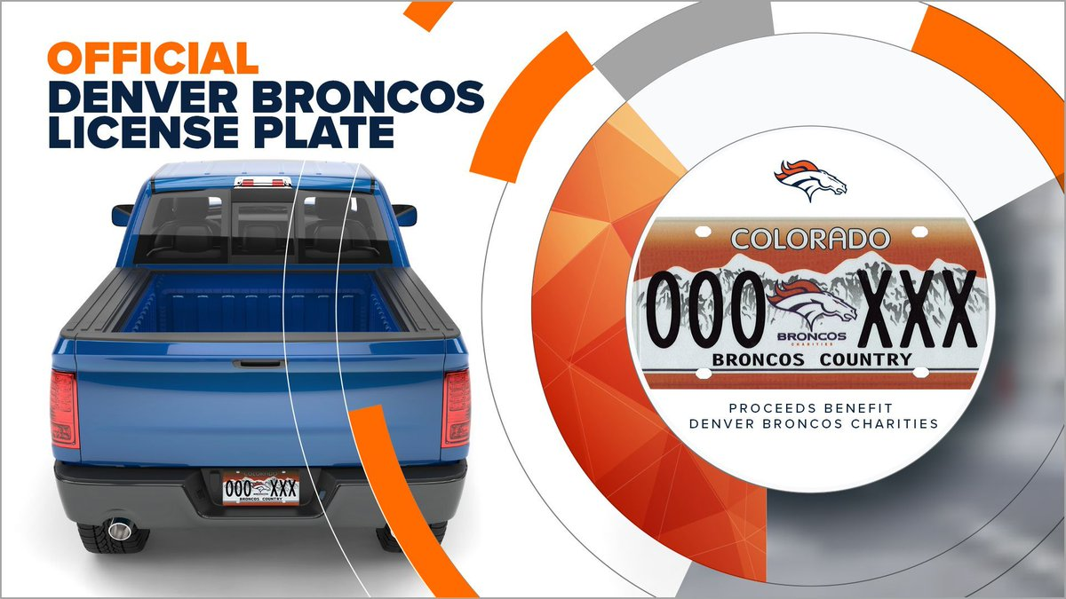 Take pride in your ride!   Your donation helps us be champions in our community — all proceeds benefit @Broncos Charities!  #BroncosCountry | 🚗: https://t.co/c3F93bxzGF https://t.co/CqICSXPbHc