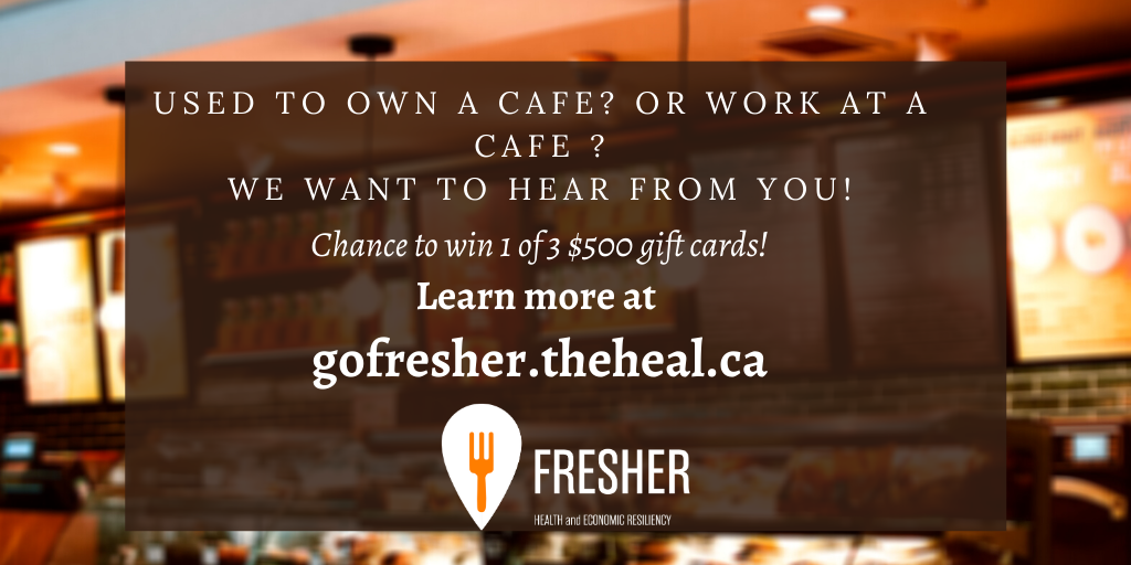 Had to close down your cafe in Ontario due to the COVID-19 pandemic?    Complete our survey at  for a chance to win 1 of 3 $500 giftcards!  Visit  to learn more   #localfood #loveONTfood #onetable #COVID19Ontario  #SaveHospitalityCA