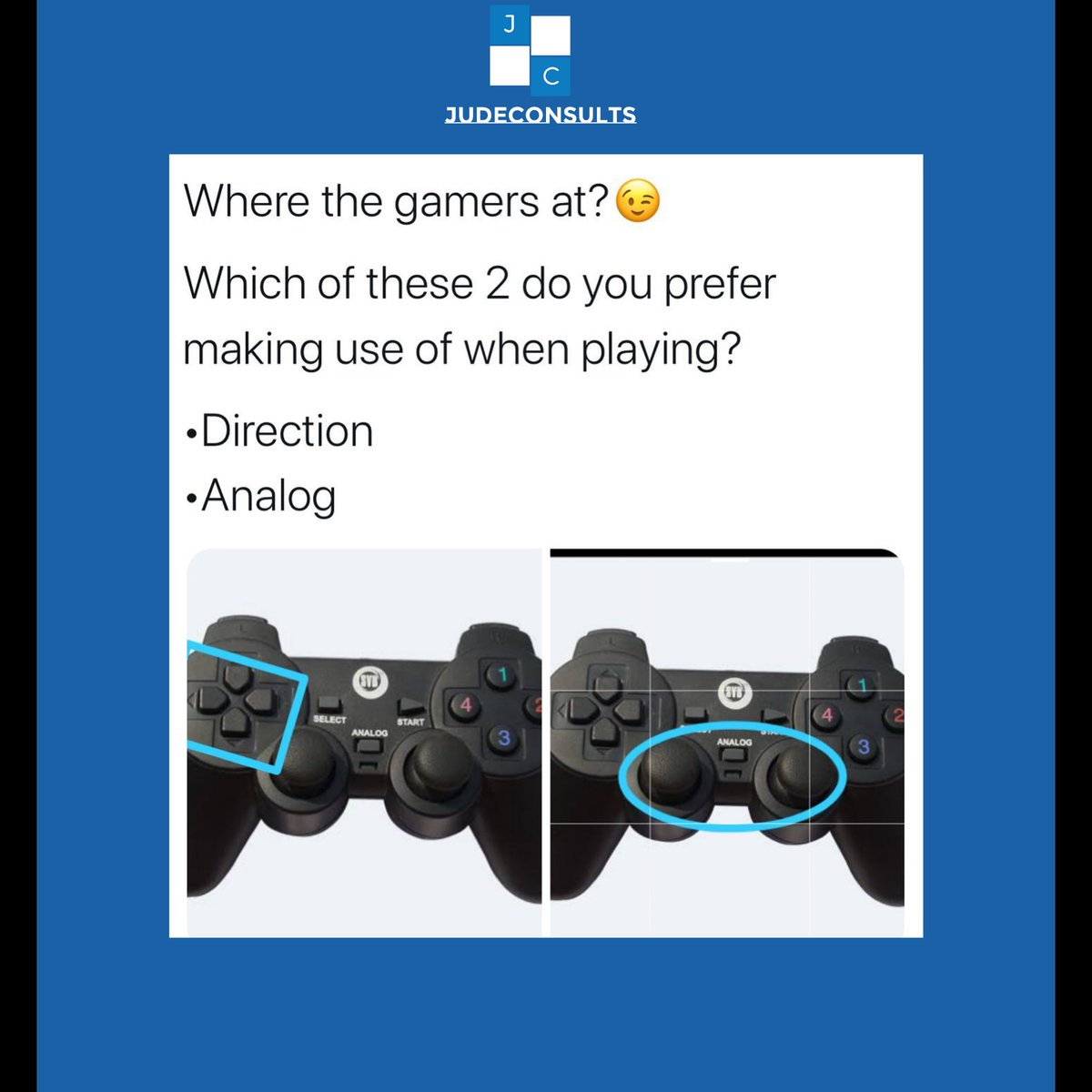 As a gamer which did/do you feel was better and more convenient to use?  A) Direction B) Analog  Lets comment below#gamers #playstationgames pic.twitter.com/7Cuguh23vo