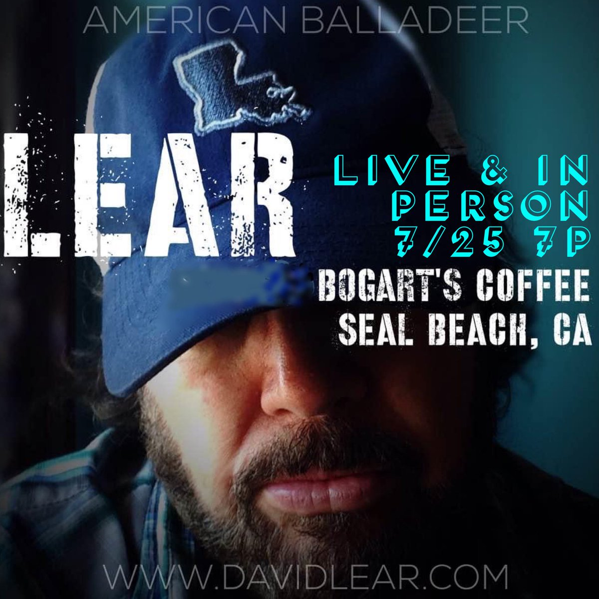 7/25 7p @bogartscoffee playing unplugged set by the #SealBeach pier @ebee55 #americana #country #folk #americanballadeerpic.twitter.com/sYYbRreOJB
