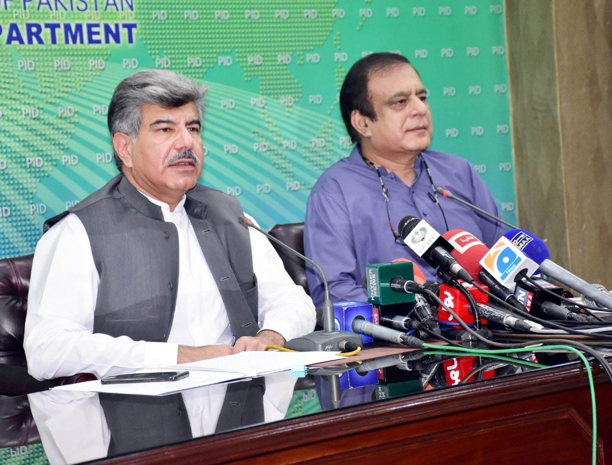 Federal Minister for Information and Broadcasting @shiblifaraz and Mr. Ahmad Yar Hiraj, Chairman PM Inspection Team addressed a Press Conference in Islamabad today.