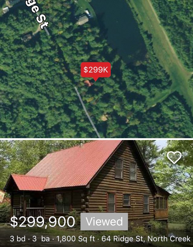Moving to the country has its advantages, solitude, serenity, private surrounding, room to roam, crisp-clean mountain air, small town charm...#LogCabin #Adirondacks #NorthCreekNY #CallToday pic.twitter.com/W900XQpMQ7
