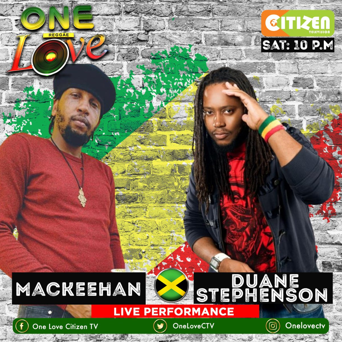 And finally, we will have 2 great artists @Mackeehan and @FromAugustTown who will be performing live on the best reggae and dancehall show #OneLove  Make sure to catch them live tonight on @citizentvkenya from 10pm until 1am  To miss tonight's show will be a diss pic.twitter.com/O2wjEoCLVg