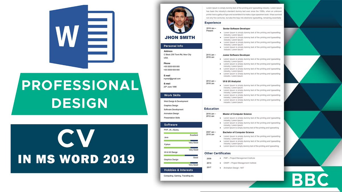 https://t.co/s46RDTVnOx Professional and Attractive CV for any kind of job with a free template.  Don't forget to like & subscribe.  #TUTORIAL #YouTuber #creator #youtubecreator #CV #JobSeekersSA #Job #Srebrenitsa #HYLT5thWin #Jada #6YearsOfSidharthInHSKD #NoExamMHRD #Force https://t.co/rAZ0FIsC2N