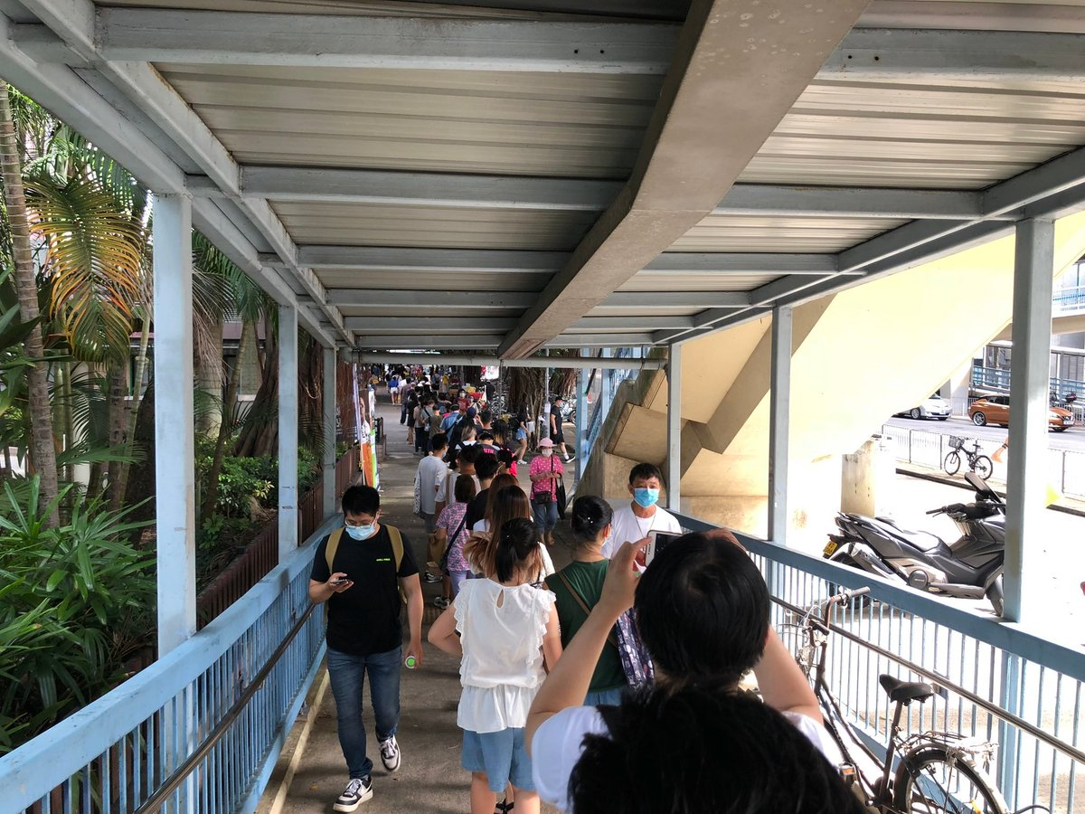 This is what the REVOLUTION looks like! Long lines of HKers voting in the primary DESPITE the national security law and intimidation from China! #HongKong @Stand_with_HK @SolomonYue @hkdc_us @hk_watch @FreedomHKG @dc4_hk @HongKongFP @BeWaterHKG #StandWithHongKong #HongKongVotes https://t.co/hb1BjVokSO