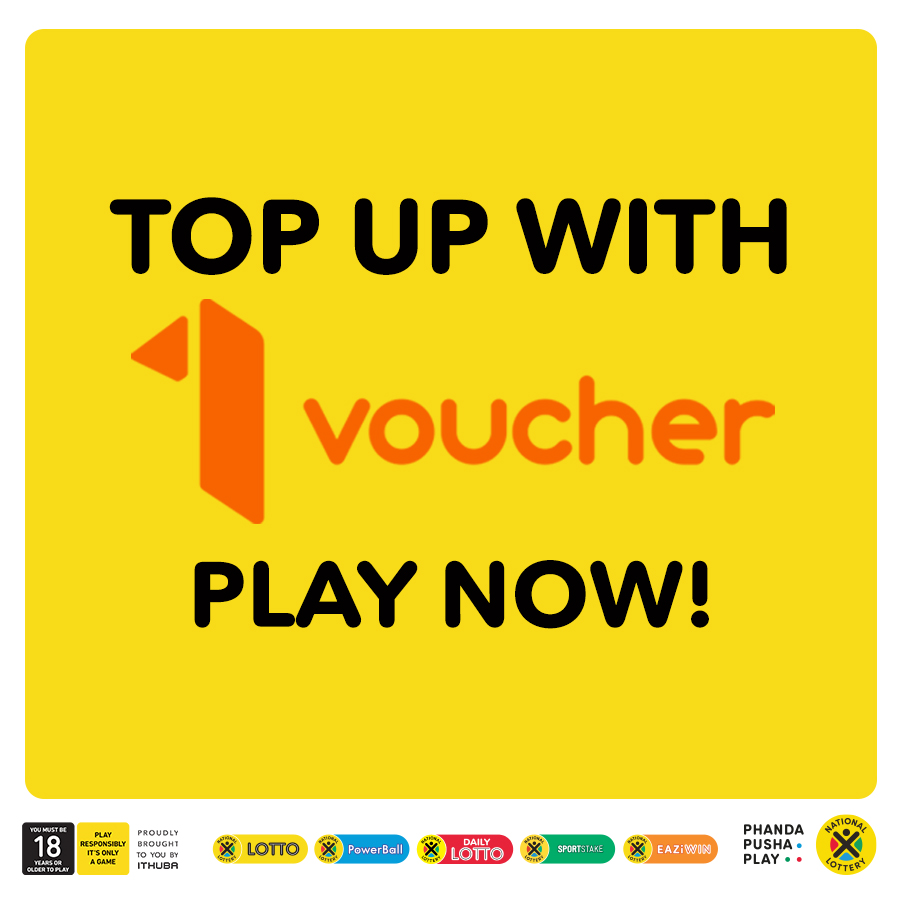 It's easier now more than ever to #PhandaPushaPLAY on-line with 1 Voucher. Top up your National Lottery on-line wallet and PLAY the #LOTTO games NOW for total estimated jackpots over R36 MILLION in stores, on nationallottery.co.za or on our Mobile App!