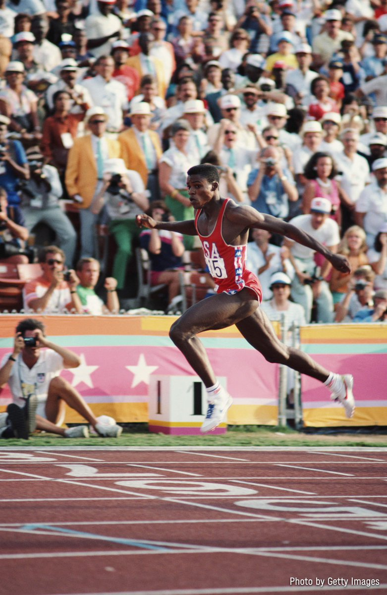 Is he the G.O.A.T of @Olympics athletics? 🐐 @TeamUSA   @Carl_Lewis collected 4 medals at Los Angeles 1984 and emulated his hero Jesse Owens by collecting gold in the 100m, 200m, 4x100m relay and the long jump! 😮  Relive this classic final here: https://t.co/o8rDvRzQwb https://t.co/q4Y8ed6m2a