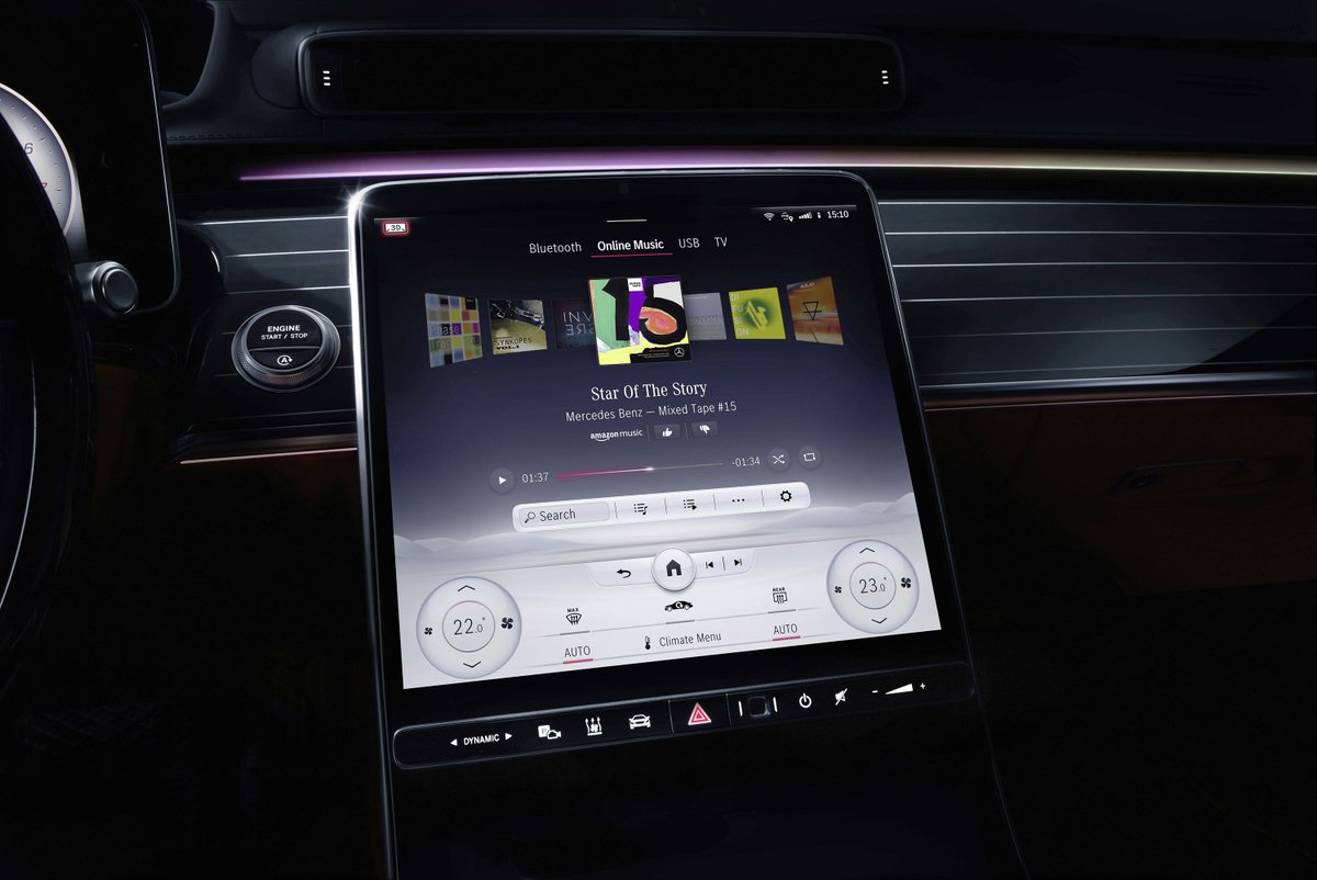 Mercedes-Benz embraces the touchscreen in the new version of MBUX