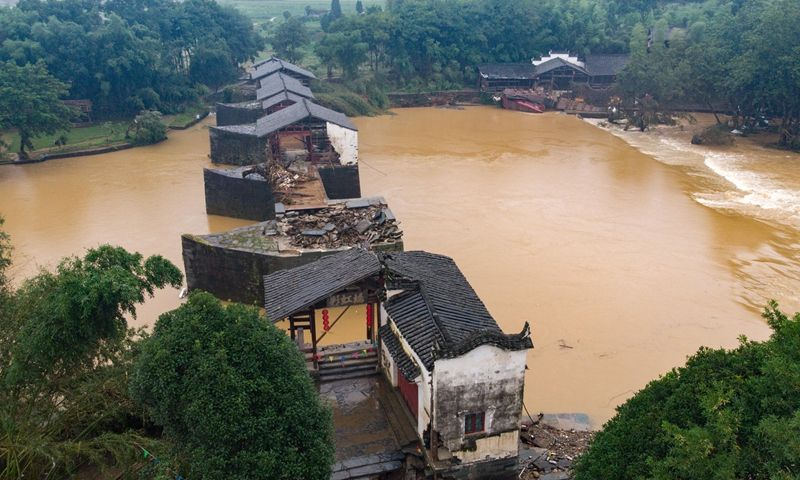 Chinese relics authorities called for urgent efforts to protect ancient cultural relics, some dated back to Ming Dynasty (1368-1644), which were swallowed up by heavy rainfall that has lashed southern China since June. https://t.co/4CtI3JjNKH https://t.co/KxZkJ703yw