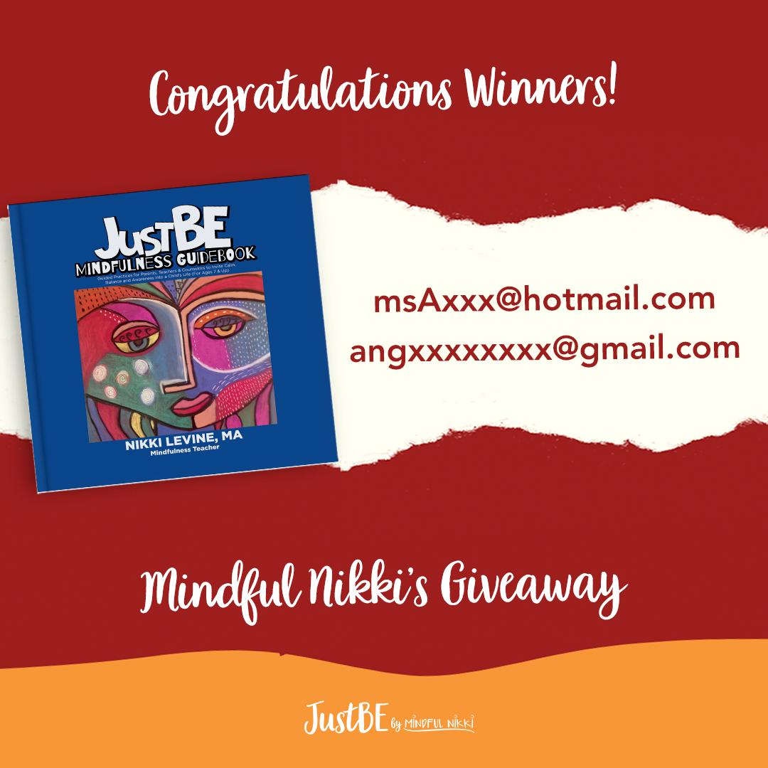 Thanks to everyone who participated in the contest! Here are the two lucky winners!! I'm so excited to meet you via zoom and see how I can help you #JustBe.   #MentalWellness #Peace #Mindset #SelfCare #Health #MindfulnessMoment #MentalHealthIsImportant #BeKind #Meditate #Dive...pic.twitter.com/nU1IP6iRLL