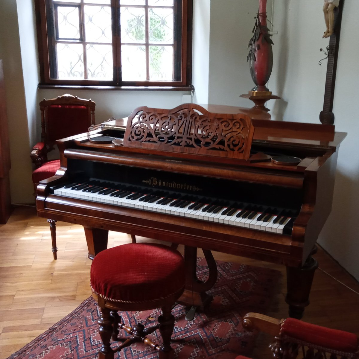 Antonín Dvořák's piano.  From the Antonín Dvořák Museum in #Prague, Czech Republic.  #music #history #art #Dvorak #classical