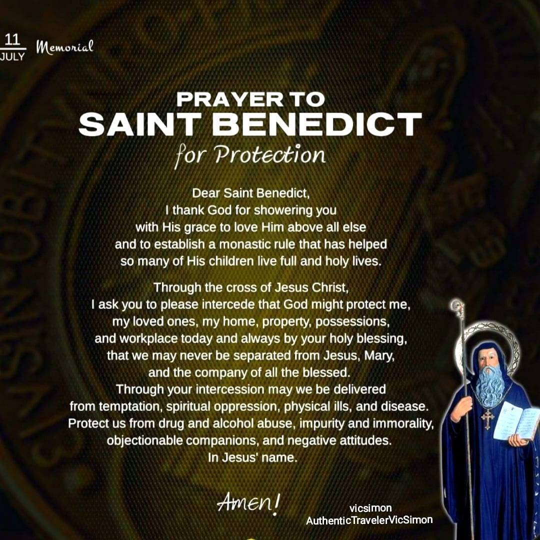 Blessed Memorial of Saint Benedict. #SaintBenedict, pray 4 us #PrayerToSaintBenedictForProtection  #MemorialOfSaintBenedict #FeastOfSaintBenedict #JourneyOfFaith #JourneyOfLife #EveryDayIsAJourney #LifeIsTravel  #AuthenticTravel#Travel #Backpacking #COVID19Pandemic #NewNormalpic.twitter.com/Ll0YRdBIPO