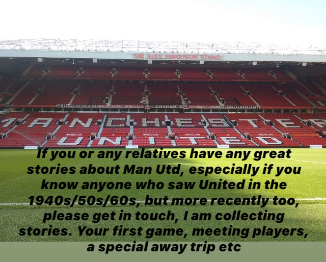 Looking for great Man Utd stories from fans. No hate mail please. #manutd #oldtrafford #premierleague #alexferguson #treble #olegunnarsolskjaer #pogba #fernandes #greenwood #beckham #giggs #facup #championsleague #europe #europaleague #1968 #best #law #ronaldo #mattbusby #1999 https://t.co/CcLBRG3d8q