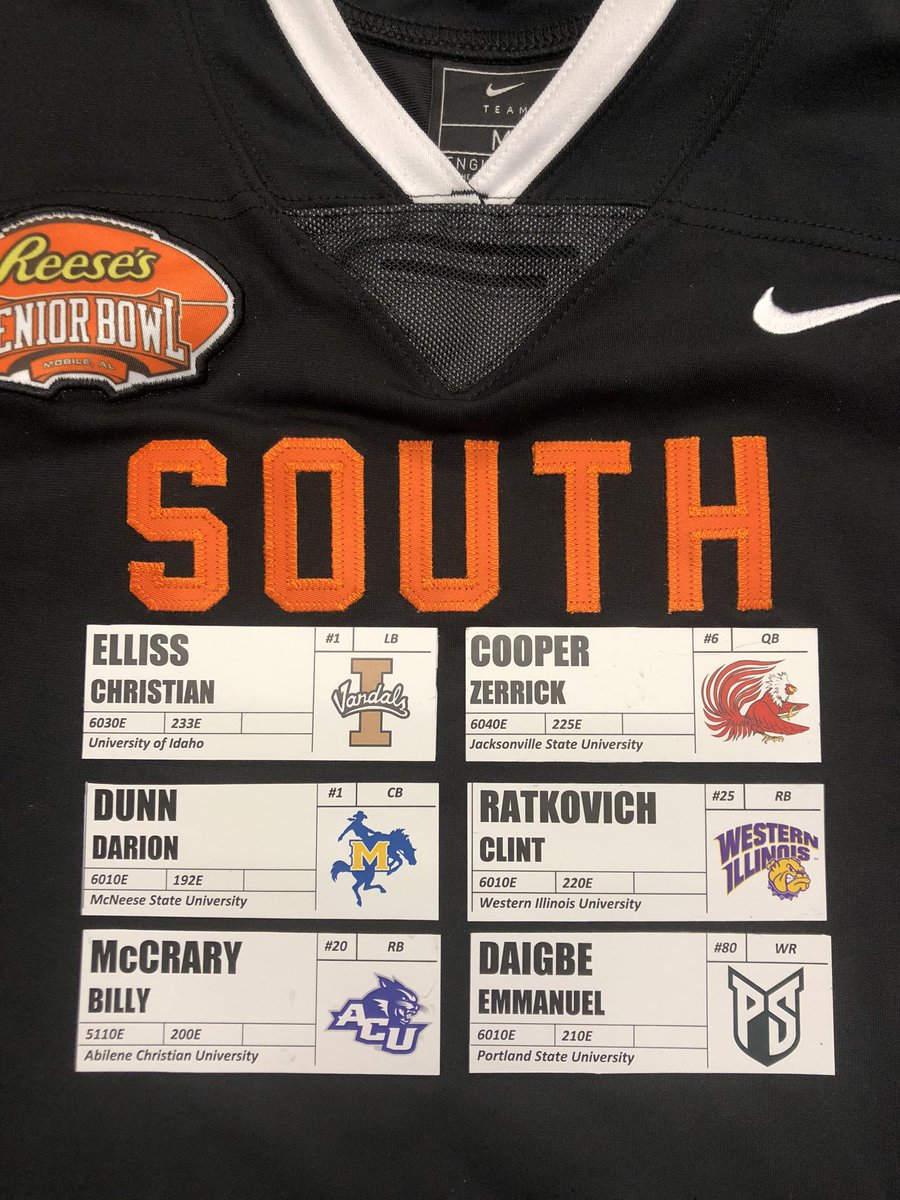 SMALL-SCHOOL SATURDAY Vol. 6: We remember Cooper from his days at @ClemsonFB and ball jumps off his hand. Many NFL scouts like Ellis' tape better than his bother Kaden, who plays for #Saints. McCrary is speedy Cal transfer that ran 10.8 100m back in 2012. #TheDraftStartsInMOBILE https://t.co/kn779OfBHg