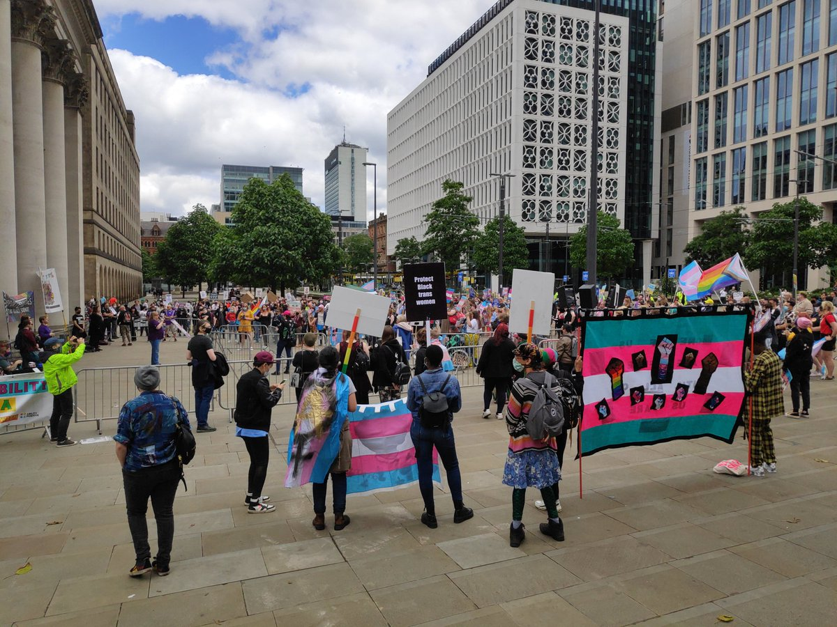 Socially distanced #wearethe70percent #TransLivesMatter demo with @LGBTLD