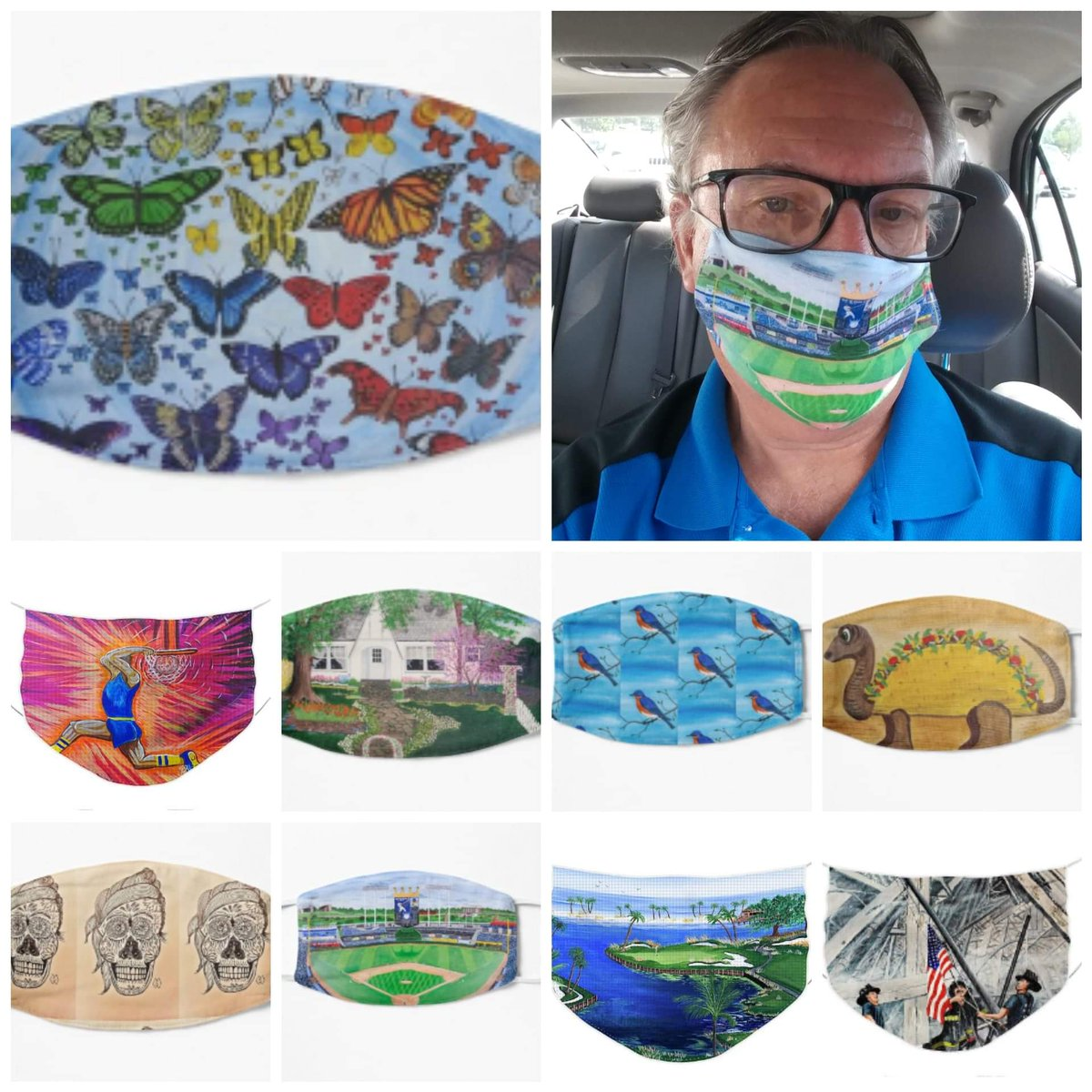 Thank you to the buyers of face masks with my paintings printed on them.   Here are pics of my face masks that have been purchased    #mattstarrfineart #facemask #covid #mask #skincare #coronavirus #staysafe #beauty #stayhome #skincareroutine #masks #art