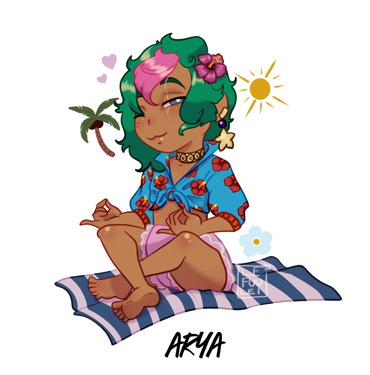 Art time! Have a lil #AryaAlsaahir soaking up the sun! #LefuuleiArt #TheArcanaGame #SummerTales #Fanart #FanApprentice #TheArcanaApprentice #OriginalCharacter #Chibi #DigitalArt #ArtistsonTwitter #TheArcanaApprenticepic.twitter.com/XB6RzC9iMw