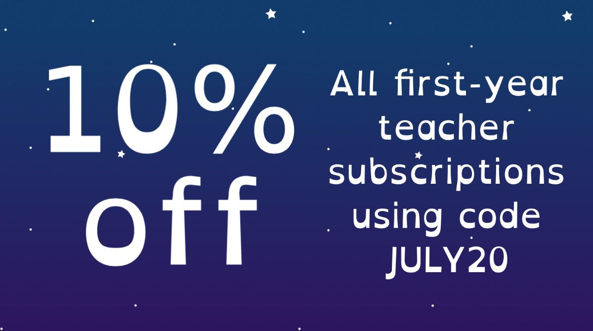 For a limited time, we are offering 10% off all first-year teacher subscriptions to Spelling Shed and MathShed. Use code JULY20 at checkout. Offer ends July 20 so make sure you don't miss out! 🐝 https://t.co/YdR0ogMA9T #educhat #edtech #eduteachertips #edutwitter https://t.co/Id4SDBcQaO