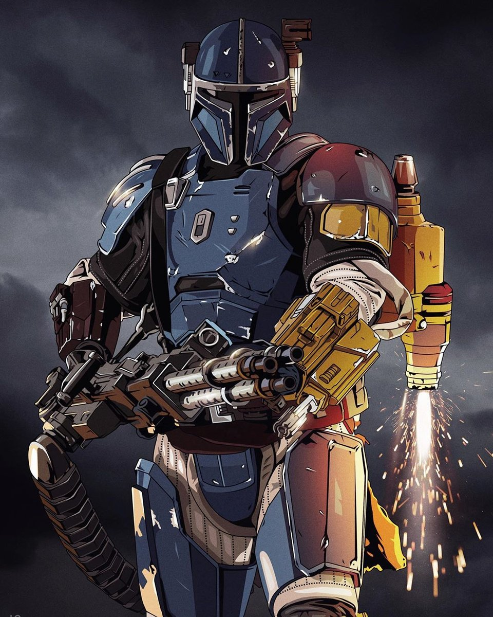 Kicking off the weekend with this Heavy Infantry Mandalorian by Devin Doty!  #mandalorian #starwars #lucasfilm https://t.co/OuDYB5XEy7