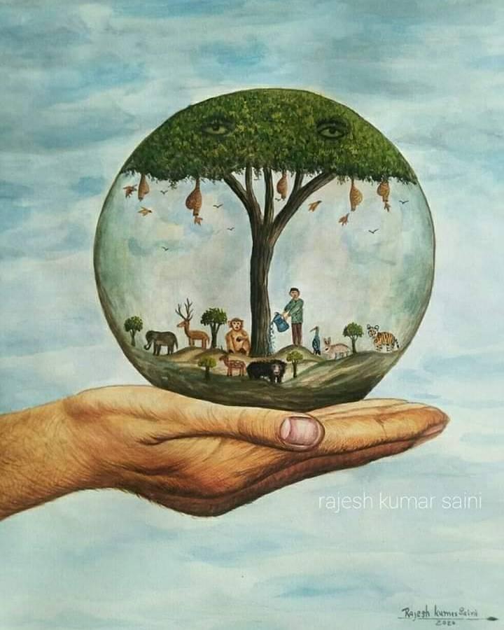 पानी, वृक्ष हैं प्रकृति की शान, इनका संरक्षण कर करें सम्मान।  #SaveWater #SaveEarth #PlantTrees https://t.co/4jkzvRZ3kj