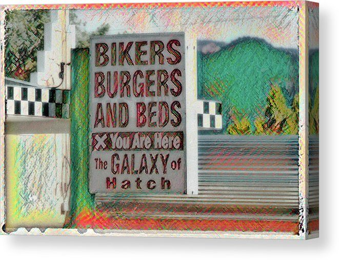 """This #sign caught my eye while traveling through the #smalltown of #Hatch #Utah.    """"Bikers Burgers and Beds - Hatch - Utah""""  by Debra Martz   https://buff.ly/2BR6yy8  #Bikers #Burgers #Beds #wallartforsalepic.twitter.com/tNJZPnZCx8"""