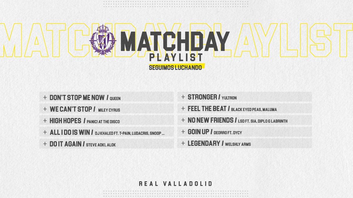 🎧💜 ¿Quieres ponerte en modo día de partido? Ahora puedes con la playlist que hemos creado para nuestro perfil de @SpotifySpain  ¡Disfrútala y prepárate para el duelo de hoy ante el @FCBarcelona_es con estos temazos!  👉🏻   #pucela #RealValladolid