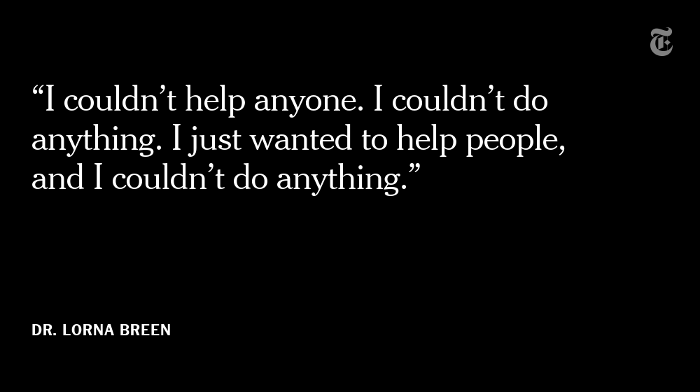 One of Dr. Breen's friends said their last conversation has become especially crushing: At one point, Dr. Breen had gotten stuck on a thought and kept repeating herself. https://t.co/KmtAp2TVP2 https://t.co/zAFSGx8WOd