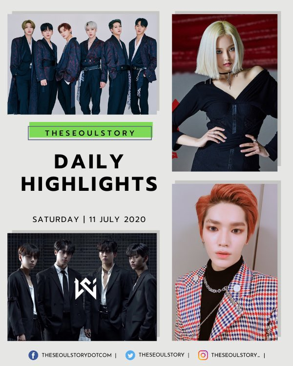 [#TSSDailyHighlights] Hello Saturday, we meet again! Time to check out today's K-pop news highlights 🌟 💘 Continuous wins for BLACKPINK 💘 SPECTRUM officially disbands 💘 OUI introduces WEi 💌 Check out our Instagram page for more deets 👉 instagram.com/theseoulstory_