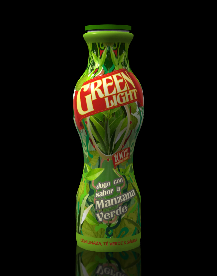 Diseño de empaque para bebida a base de té, marca Green Light. Para Laboratorios Nicole. Agencia: Optima T.M. #diseñografico #diseñodeempaques #diseñoindustrial #packaging #packagingdesign #bebidas #te #diseñoproductos #industrialdesign #modelado3d #3ddesign #optimatm