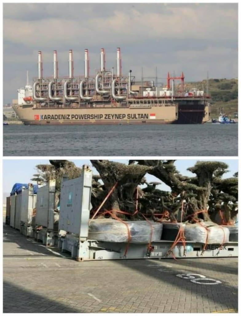 الصورة بالأعلى : سفينة تركية تابعة لإحدى شركات الكهرباء في #تركيا على شواطئ #ليبيا لتزويدها بالكهرباء.. الصورة بالأسفل: حاويات إماراتية تسرق أشجار #اليمن من جزيرة #سقطرى .. فمن هو الحليف .. ومن هو المحتل ..؟! https://t.co/LKOLX3Lu8R