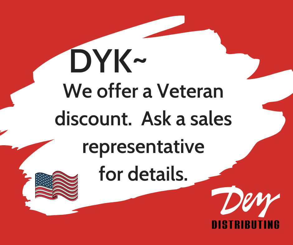 Did You Know?  We offer a Veteran discount. Ask a sales representative for details. 🇺🇸 #VeteranDiscount
