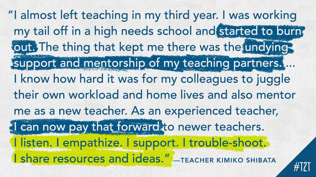 Shoutout to mentors, mentees and Ts supporting Ts! #edchat #TeacherFriends, via T @ESL_fairy