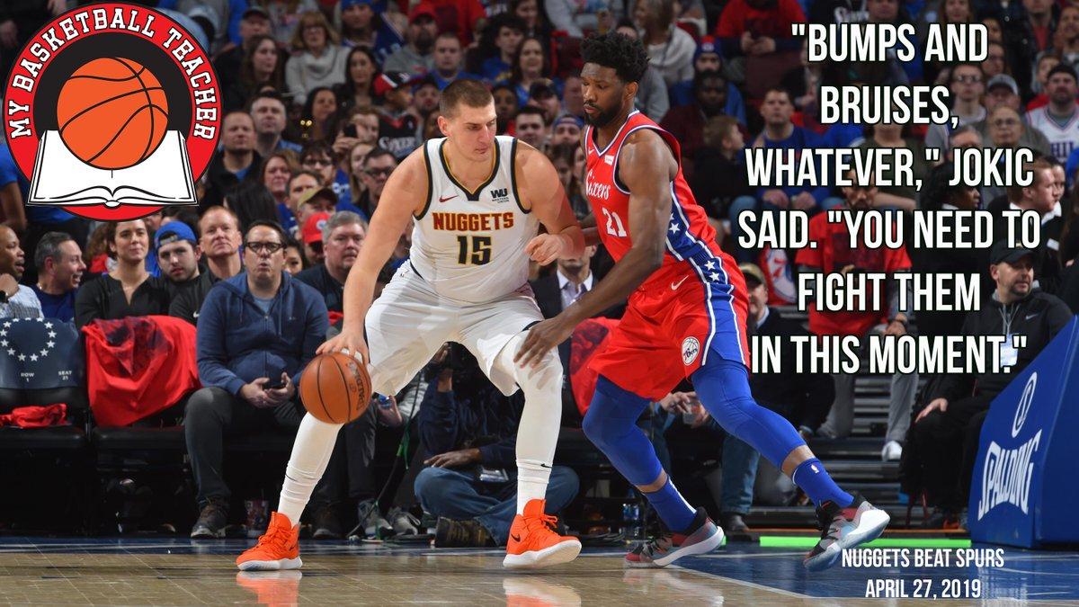 Nikola Jokic is My Basketball Teacher. #Denver #Nuggets #Grit  #MyBasketballTeacher #PostGameQuotes #DailyMotivation #PostGame #PostGameQuotes #Hoops #Bball #Basketball #gymrat #quotes #quote #baloncesto #Basketbol #Basquet #Basquete #баскетбол #basquetebol #NBApic.twitter.com/W2AbjdVjd4