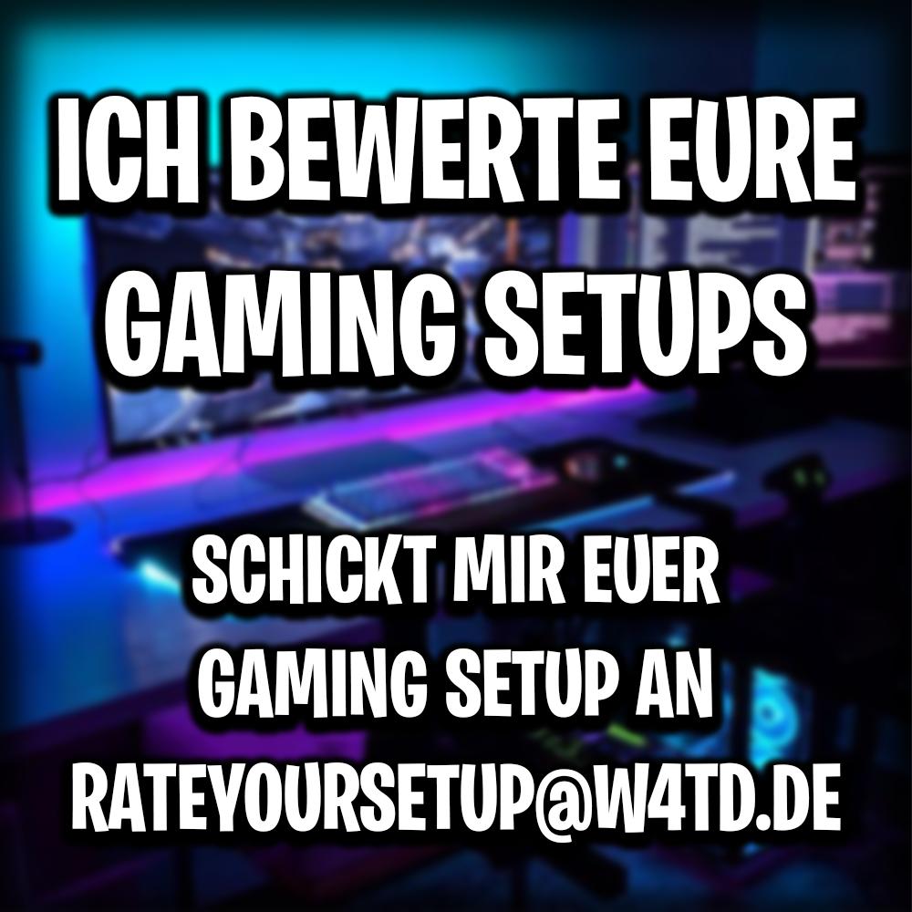 Ich starte eine Videoreihe auf meinem YouTube Channel in dem ich eure Gaming Setups bewerte mehr Infos hier: https://youtu.be/tcQtqWM2mZU Schickt mir euer Setup an RATEYOURSETUP@W4TD.DE #gaming #pc #gamer #setup #game #desksetup #gamingpc #dreamsetup #pcgamer #dreamroom #gamingroompic.twitter.com/Msl0WOqUEP
