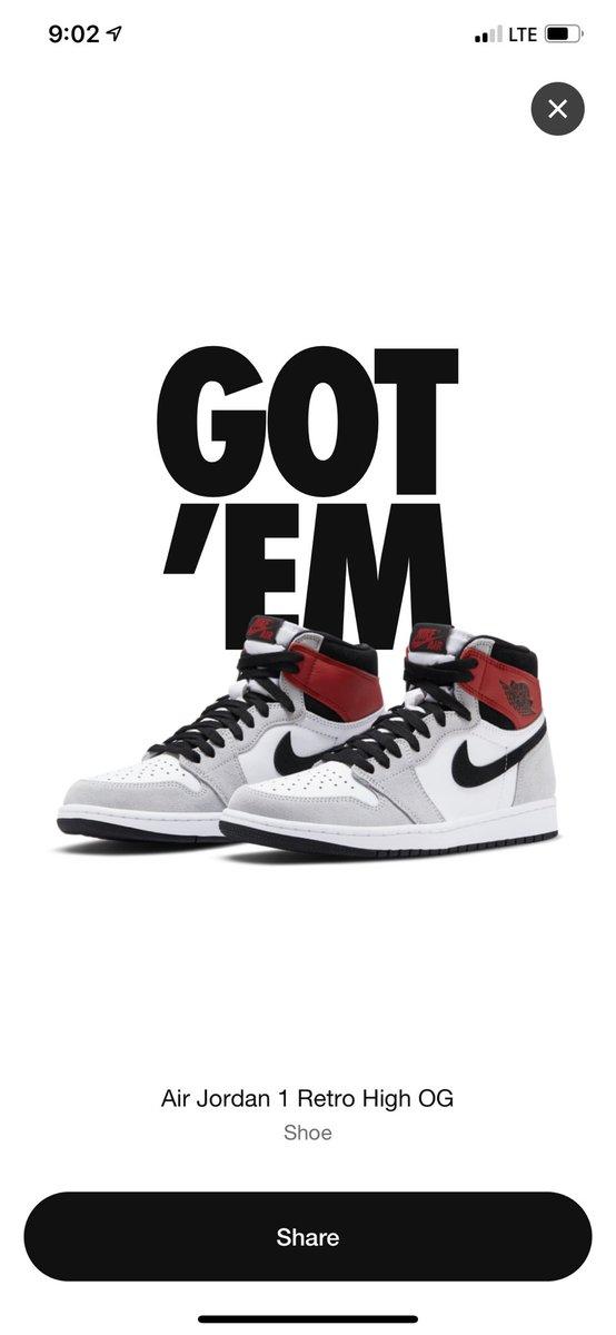 Got em! 😱 #sneakerheads #sneakerhead #sneakerfam #sneakerjunkie #aj1fam.     Let's Goooo!!! https://t.co/u2EBs1Swrd