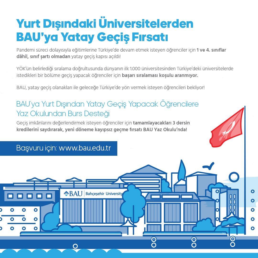 Yurt dışında okuyan fakat pandemi süreci nedeniyle eğitimine Türkiye'de devam etmek isteyen öğrenciler için yatay geçiş başvuru tarihleri belli oldu!  Birinci Başvuru Dönemi: 10-17 Temmuz İkinci Başvuru Dönemi: 04-28 Ağustos  Detaylı bilgi: https://t.co/K93nCnSWt6 https://t.co/VyYQJVpbqw