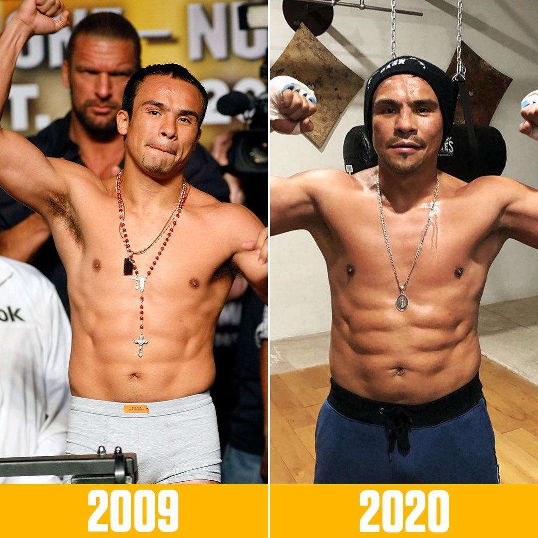 Forty-six-year-old Juan Manuel Marquez looks like he's still in fighting shape 💪 https://t.co/G4Vwb2wcKU