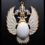 Image for the Tweet beginning: #etsy shop: Vintage Wings Fleur-de-Lis