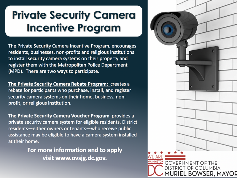 #WashingtonDC: Private #SecurityCamera #System Incentive Program:   via @OVSJG_DC  #smartcity #DCTech #publicsafety #cyber #crime #crimeFighters #Neighborhood Watch #ComputerVision #SmartCam #Ring #Google-#Nest #Arlo @ArloSmartHome @googlenest @ringofhonor