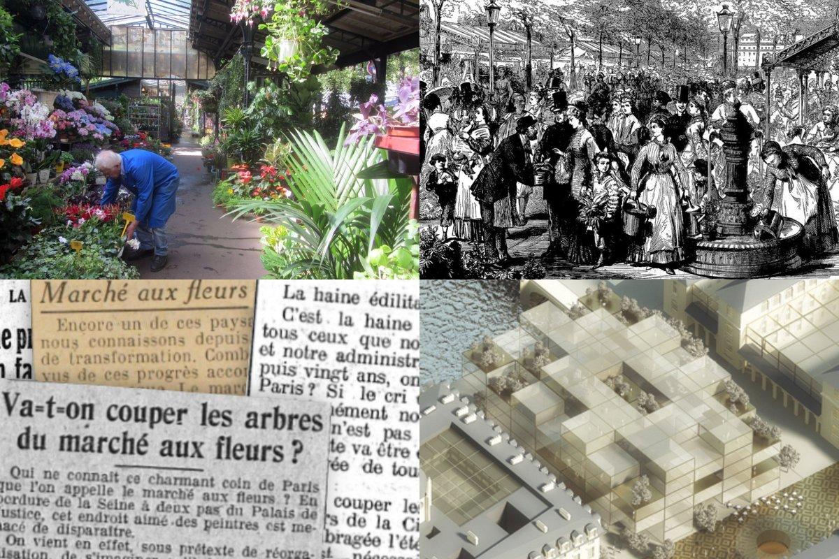 [EXCLU] #Paris Le marché aux fleurs sera bientôt rénové Retour sur 150 ans d'une histoire méconnue et mouvementée  #Paris4 #ParisCentre #IledelaCité #patrimoine