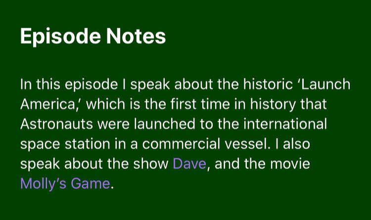 Check out episode #157:  iTunes: https://t.co/Q5eCzypRp3  Spotify: https://t.co/VFLEWhij5f  #iTunes #Spotify #LaunchAmerica #SpaceX #Dave #MollysGame https://t.co/FGwgWzmqZO