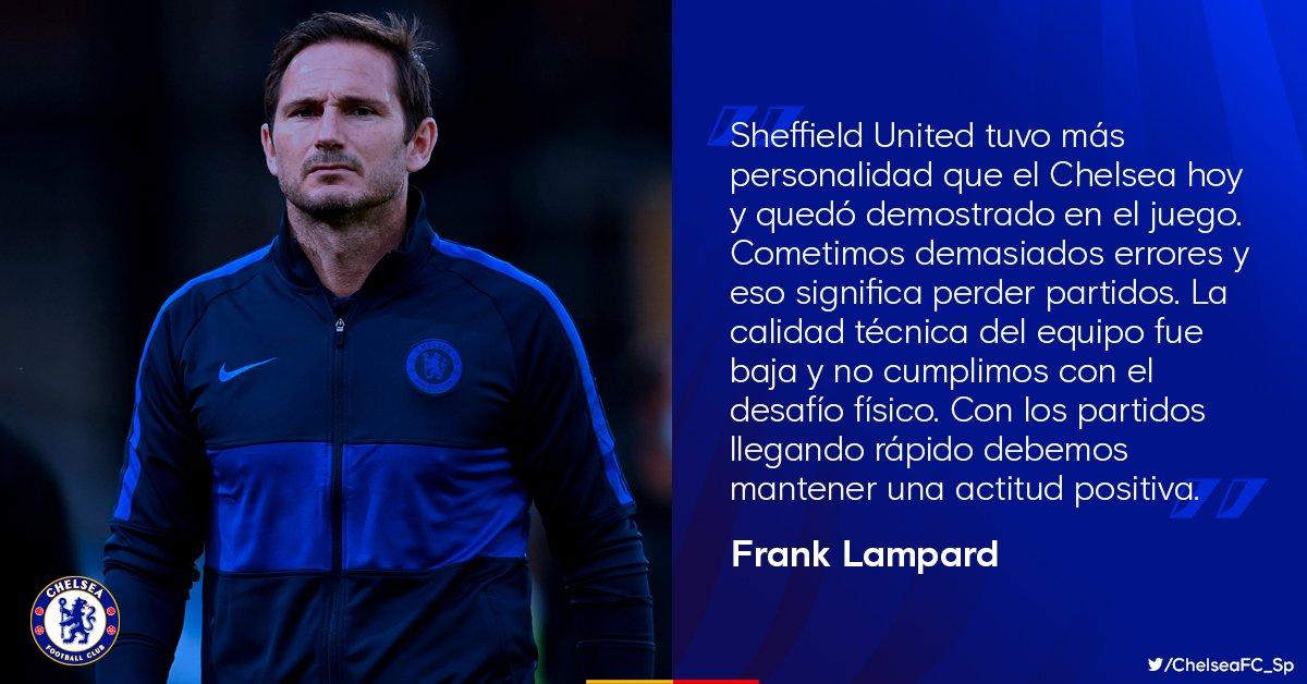 Frank Lampard tras la derrota ante Sheffield United. https://t.co/L56iEQ20ci