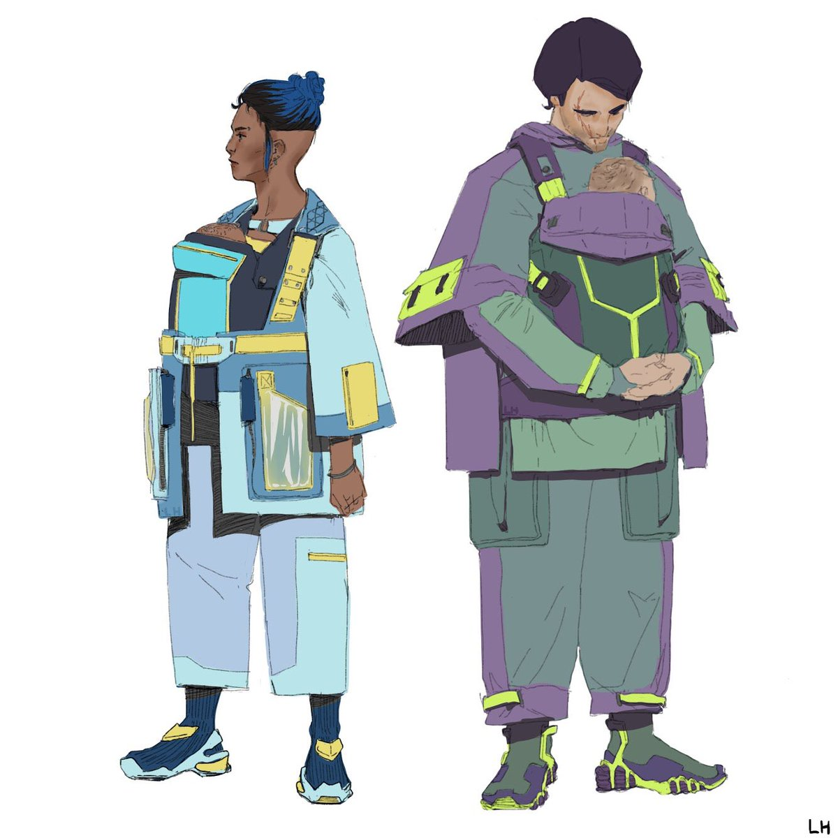 Space parents: 'fashion' mode vs 'bleak outlook' mode