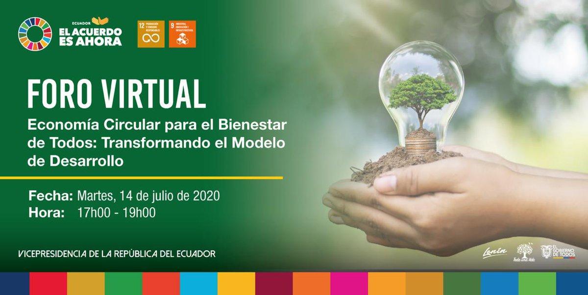 ¡Economía circular para el bienestar de todos!  Este 14 de julio conoce más sobre los desafíos para transformar el modelo económico lineal hacia uno circular, en el cual converge el desarrollo sostenible, ambiental y productivo.   Inscríbete en: https://t.co/etbDCdLBTq https://t.co/pyiNORjX4O