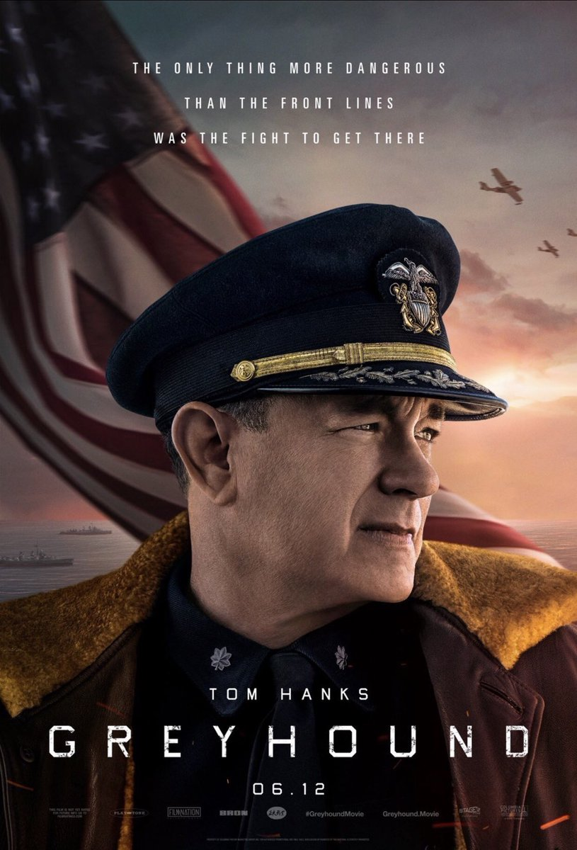 GREYHOUND. Inspired by actual events in WW2 where a Navy Captain must protect his fleet while sailing through an ocean area swarmed by Nazi U-Boats.  Intense + gripping. It would've looked + sounded better on IMAX had Covid-19 not screwed up its theatrical release  #RekomenFilem<br>http://pic.twitter.com/cSlXiCoYSo