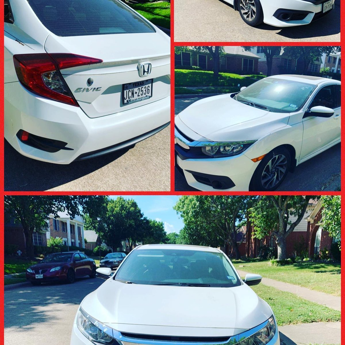 Selling 2016 Honda Civic- Excellent condition. No issues- International relocation-can't take car. Blue Book $13,000 but selling for $11,500. PM me if interested. Dallas/Cedar Hill, TX. pic.twitter.com/MtQxfAM3Ea