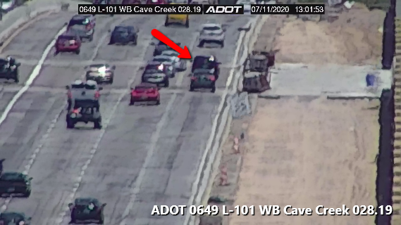 L-101 EB near Cave Creek: A disabled vehicle is blocking the right lane. #phxtraffic
